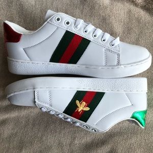 New Gucci Men's Ace Embroidered Bee Shoes Size 8